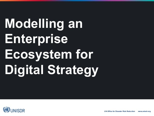 UN Office for Disaster Risk Reduction www.unisdr.org Modelling an Enterprise Ecosystem for Digital Strategy