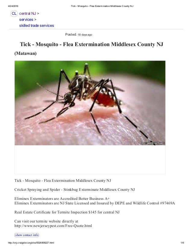 State Certified Tick and Mosquito Spraying NJ 732-284-3807