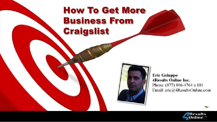 How To Get MoreBusiness FromCraigslist