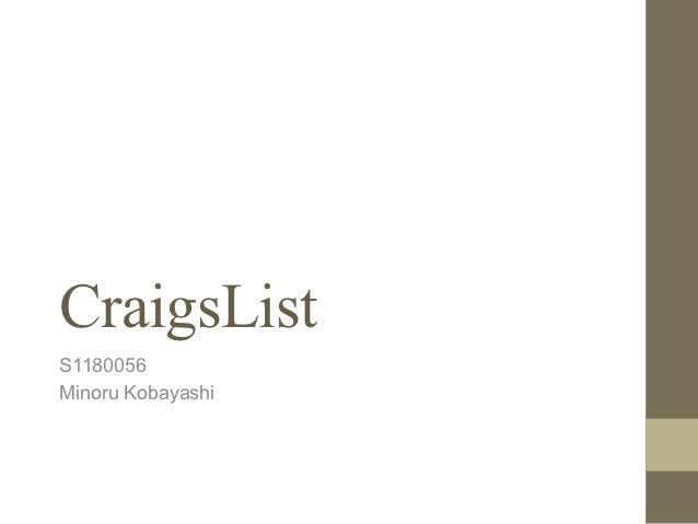 CraigsListS1180056Minoru Kobayashi