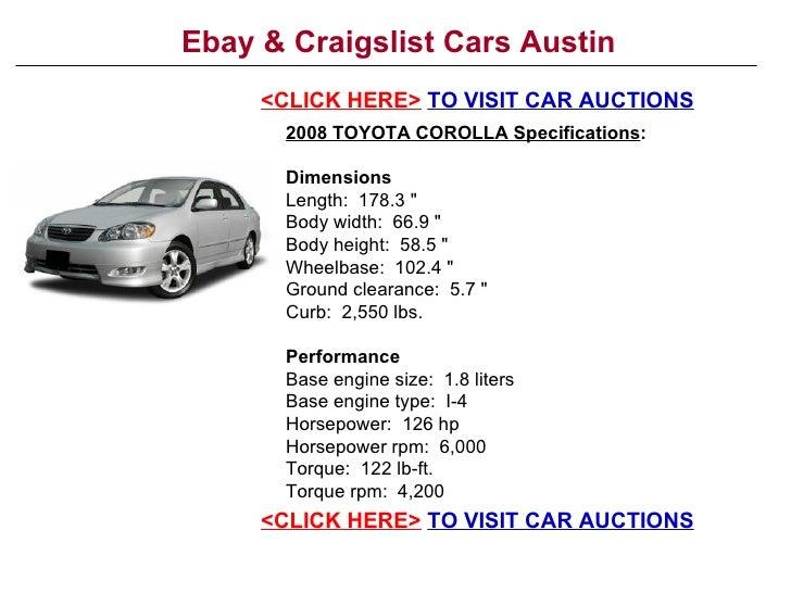 ebay craigslist cars austin. Black Bedroom Furniture Sets. Home Design Ideas