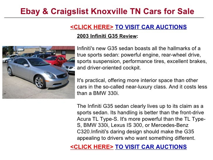 Ebay & Craigslist Knoxville TN Cars For Sale
