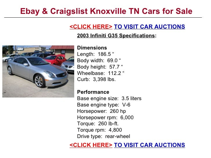 Ebay Amp Craigslist Knoxville Tn Cars For Sale