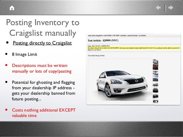 Updated June 2013 Craigslist Used Car Marketing Tips For Car Dealer