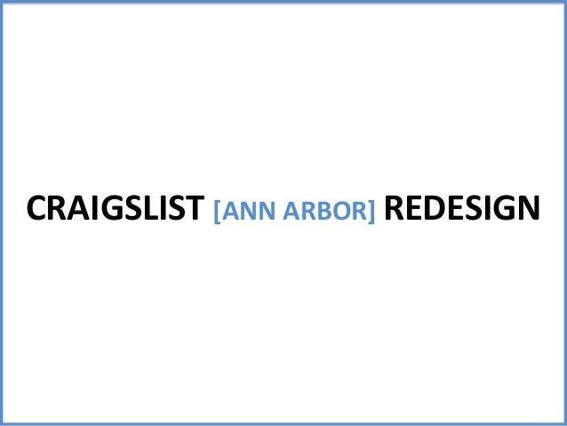 CRAIGSLIST [ANN ARBOR] REDESIGN