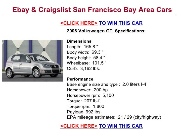 ebay craigslist san francisco bay area cars. Black Bedroom Furniture Sets. Home Design Ideas