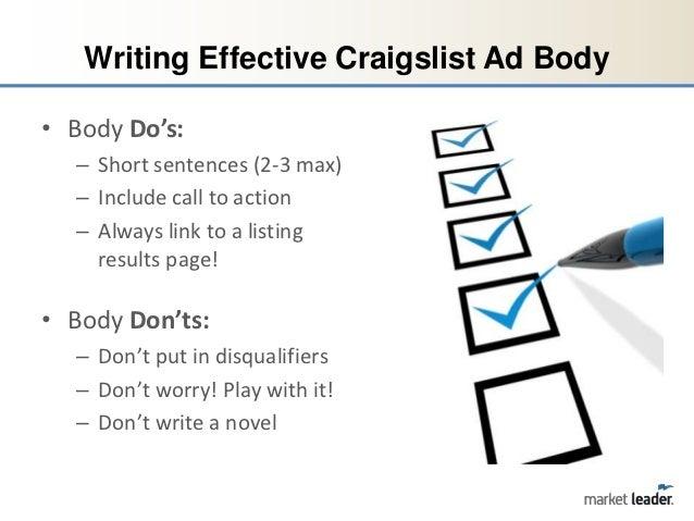 Essay writer craigslist