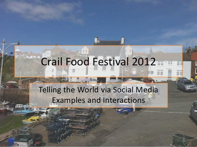 Crail Food Festival 2012Telling the World via Social Media     Examples and Interactions