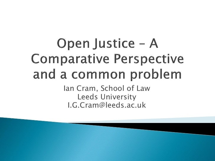Ian Cram, School of Law    Leeds University I.G.Cram@leeds.ac.uk