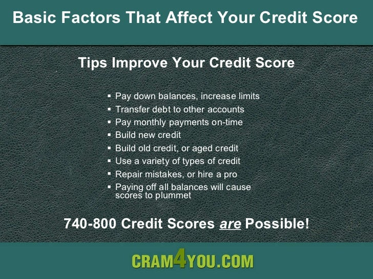 Simple ways to improve your credit score basic factors that affect your credit score ullipay down balances ccuart Gallery
