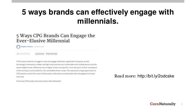 3 5 ways brands can effectively engage with millennials. Read more: http://bit.ly/2odcske