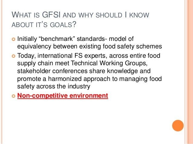 Global Food Safety Initiative (GFSI) Implementation