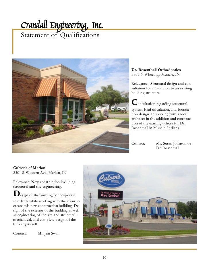 Crandall Engineering, Inc. 9; 12.