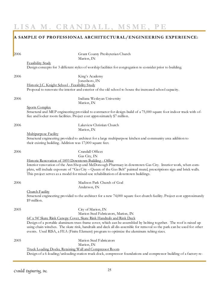 Crandall Engineering, Inc. 24; 27.