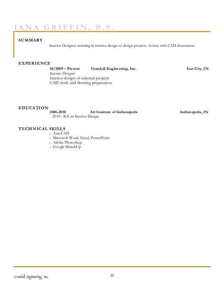 Capital needs assessment provider statement of - Interior decorator qualifications ...