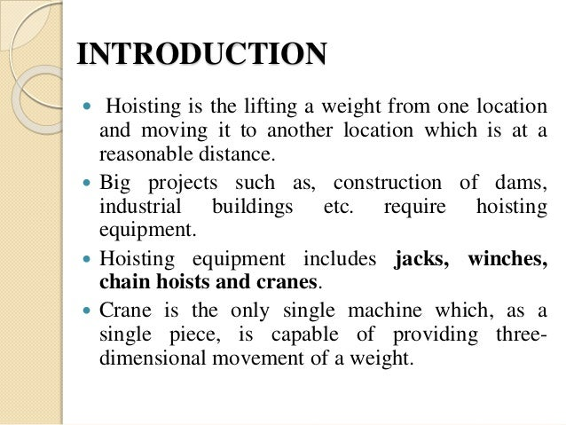 types of hoisting machine