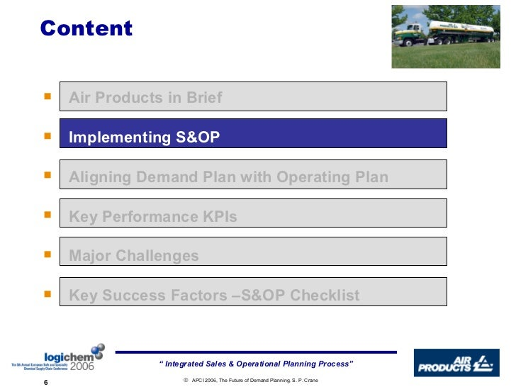 Implementing An Integrated Sales And Operations Planning
