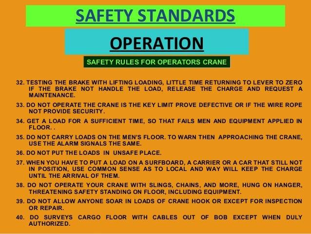 Overhead Crane Lifting Procedure : Cranes