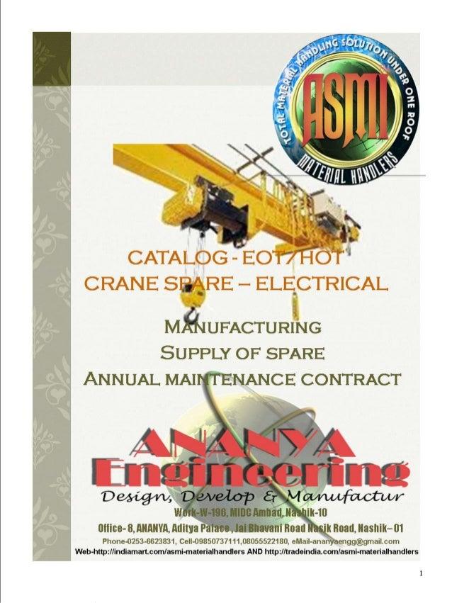 Crane spare electrical