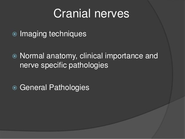 cranial nerves anatomy pathology imaging pdf