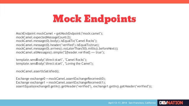 Cooking with Apache Camel: Tips and Tricks - DevNation 2014