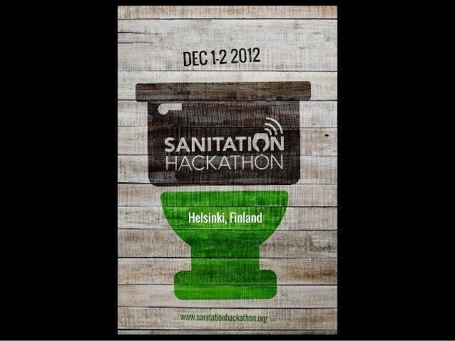 W E L C O M E   TO   C R A PAT HO N        HELS I NK I           Sanitation Hackathon by World Bank