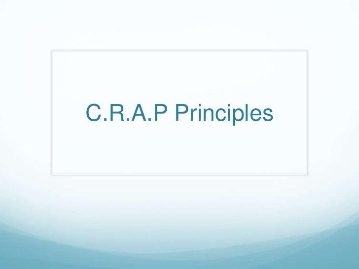 C.R.A.P Principles<br />