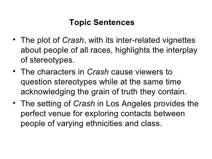 "crash essay Summary:for this blog, i decided to analyze the movie, crash, which was released in 2005 the movie ""crash"" depicts various races and their."