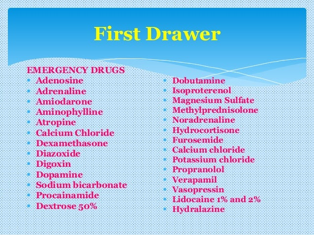 emergency drugs list and doses pdf