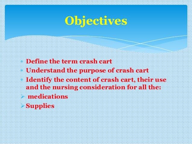 Crash cart familiarizaton with Arrythmias Slide 2