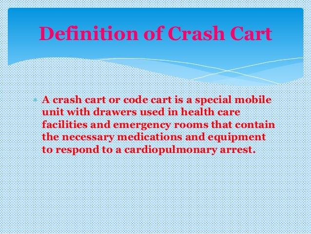 Crash cart familiarizaton with Arrythmias Slide 3