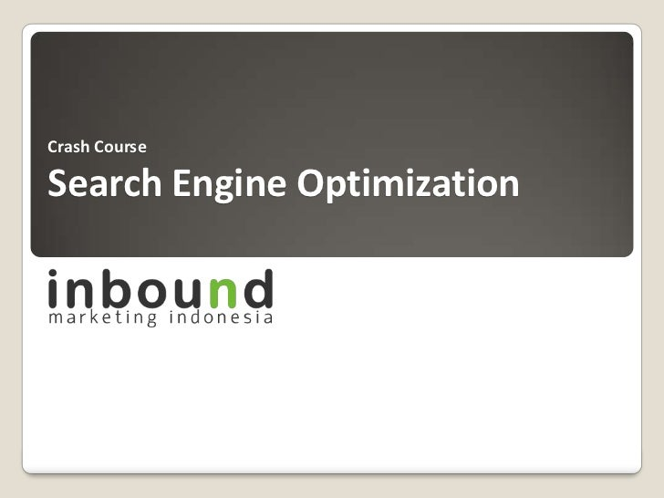 Crash CourseSearch Engine Optimization<br />