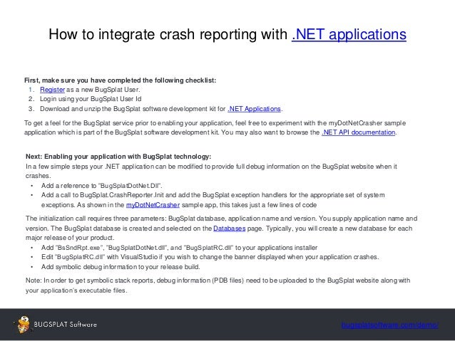 Crash Reporting For C++,  NET, Java, Mac OS X Applications