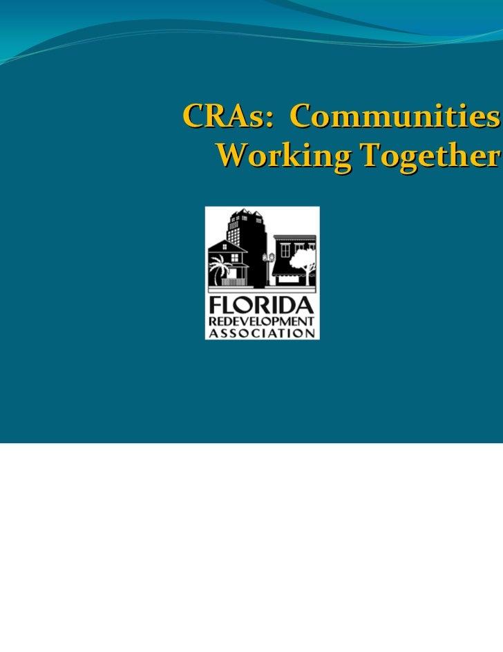 CRAs:Communities  WorkingTogether