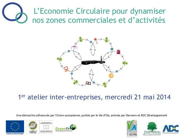 L'Economie Circulaire pour dynamiser nos zones commerciales et d'activités 1er atelier inter-entreprises, mercredi 21 mai ...