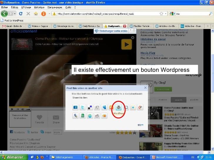 cr u00e9ation blog s u00e9ance 4 importation vid u00e9o avec vodpod