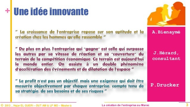 Cr ation d 39 entreprise for Idee innovante entreprise