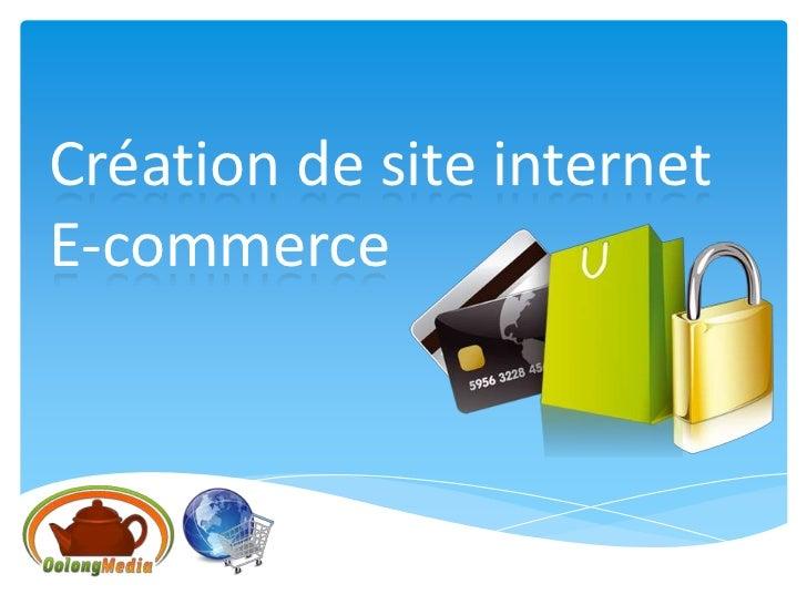 Création de site internetE-commerce