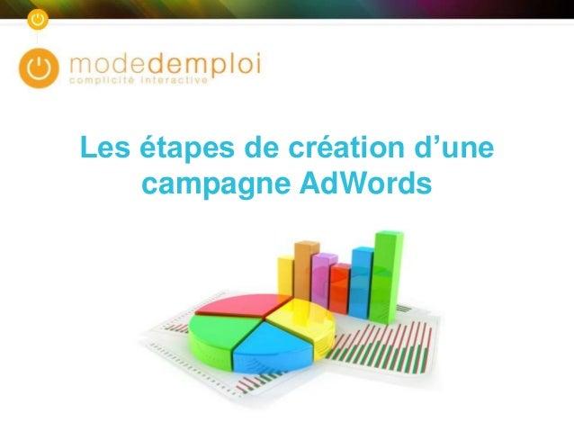 Les étapes de création d'une campagne AdWords