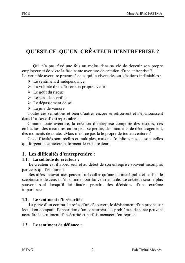 Creation Entreprise Pme