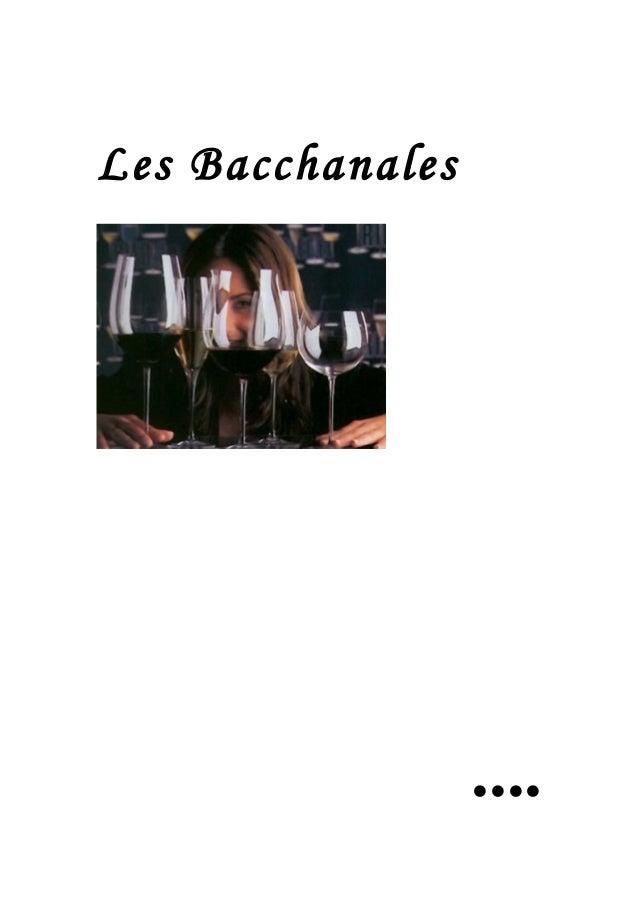 Les Bacchanales ....