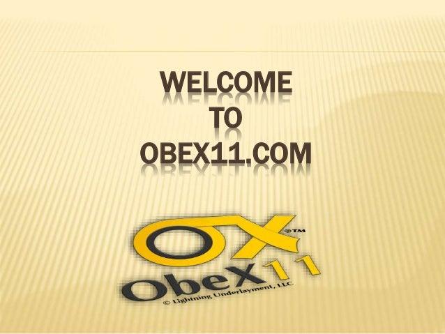 WELCOME TO OBEX11.COM