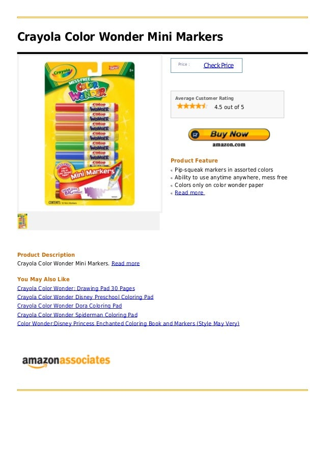 Crayola Color Wonder Mini Markers                                                            Price :                      ...