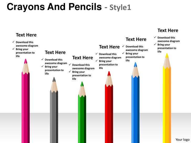 crayons and pencils style 1 powerpoint presentation templates, Presentation templates