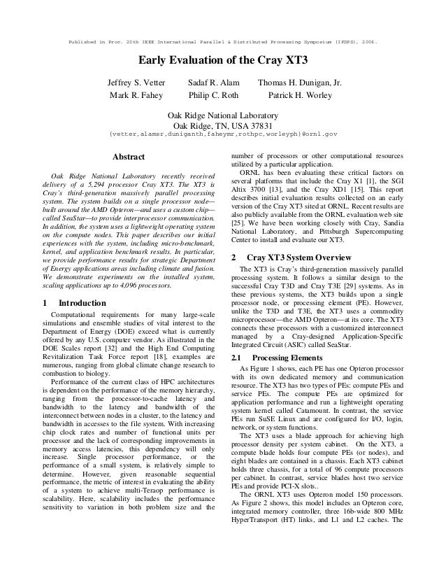 Published in Proc. 20th IEEE International Parallel & Distributed Processing Symposium (IPDPS), 2006. Early Evaluation of ...