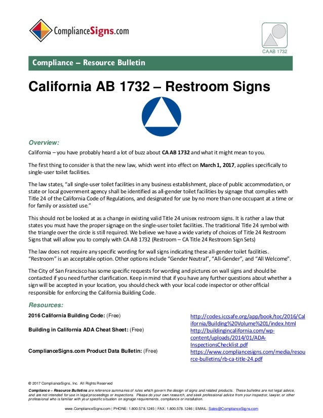 © 2017 ComplianceSigns, Inc. All Rights Reserved Compliance – Resource Bulletins are reference summaries of rules which go...