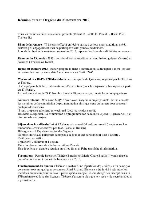 Réunion bureau Oxygène du 23 novembre 2012 Tous les membres du bureau  étaient présents (Robert ... fe49f9837be6