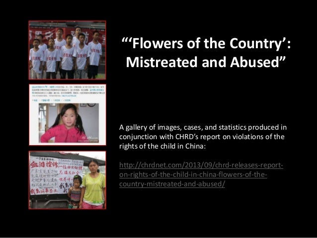 """'Flowers of the Country': Mistreated and Abused"" A gallery of images, cases, and statistics produced in conjunction with ..."