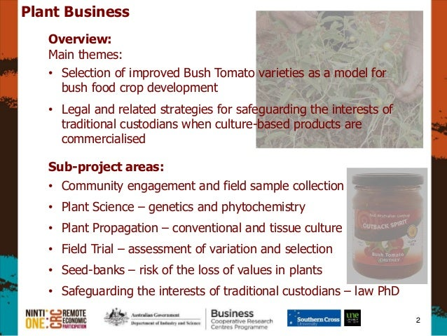 Plant Business, Assoc  Prof  Slade Lee - CRC for Remote