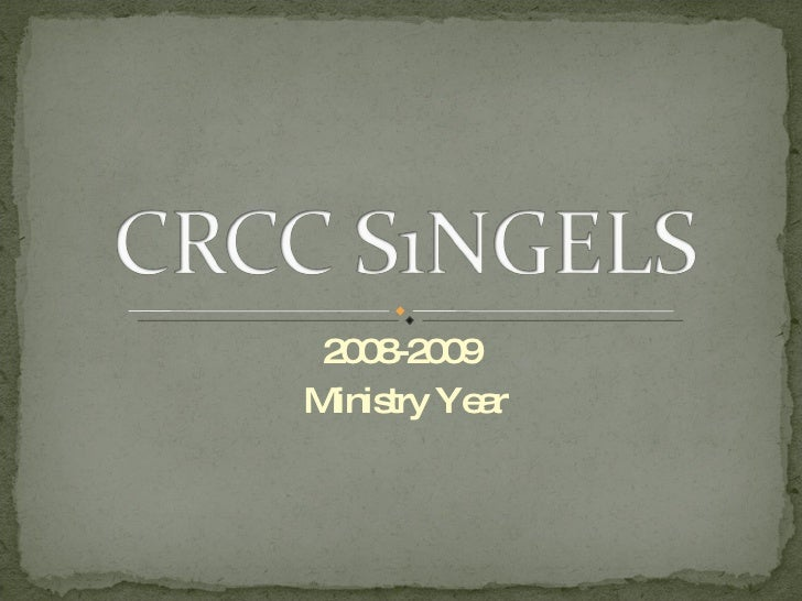 2008-2009  Ministry Year
